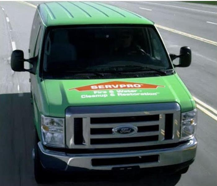 SERVPRO truck on highway